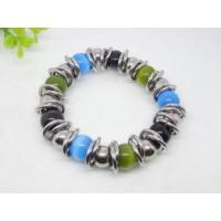China Ethnic Style health Colorful Opal Stainless Steel Charm Bracelets for Children's on sale