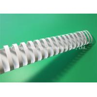 Eco - Friendly 45mm Binding Plastic Comb / White Binding Combs For A4 Size Books Manufactures