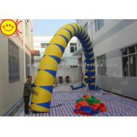 China Airblown Giant Yellow / Blue PVC Inflatable Arch 13 ft - 50 ft Wide Inflatable Archway wholesale