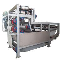 China Highly Efficient Vacuum Belt Filter Press For Farm Solid Liquid Separation on sale