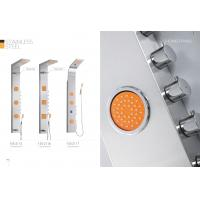 Professional Stainless Steel Shower Panel With Adjustable Orange Massage Jets Manufactures