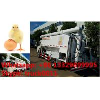China customized 11m3 hydraulic chicken feed pellet transported truck for Philippines, bottom price dongfeng 11m3 feed truck on sale
