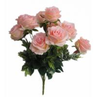 Quality Artificial 12 Head Rose Bush for decoration for sale