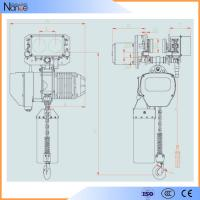 250 kg - 50 ton Manual Electric Chain Hoist With Remote Control Manufactures