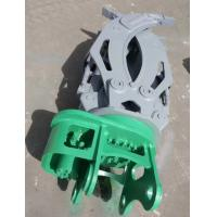 Hydraulic Rotating Grapple Attachment For Excavator Rotating Log / Rock / Steel Grapple Manufactures