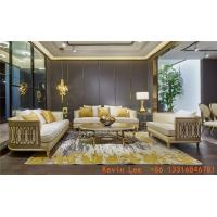 Luxury villa interior furniture custom made high end fabric sofa set 123 light luxury hand made leaf for wood structure Manufactures