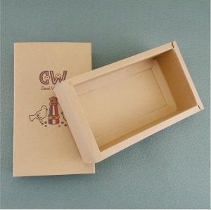 China Customized Eco friendly brown Kraft paper folding box slide drawer cardboard paper box on sale