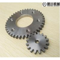 China Simplex Row Straight Bevel Gear , 304 Stainless Steel Spur Gears Silver Color on sale