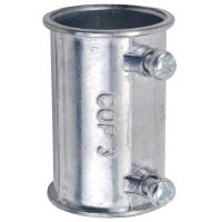 Zinc Die Casting Electrical Conduit Fittings 4 Inch EMT Coupling Set Screw Type Manufactures