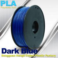 Dark Blue PLA 3D Printer Filament With 1KG / Roll , Good Performance Of Electroplating Manufactures