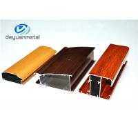 Different Color 6063-T5 Aluminum Window Profiles Wood Grain For Household Manufactures