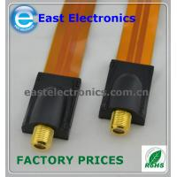 F female flat coupler window throug cable for RG6 RG-6 Flat Cable TV Coaxial Cable Coupler Manufactures