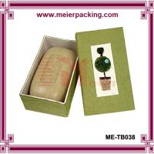 China Skin care handmade soap paper box/Nature soap cardboard paper box ME-TB038 on sale