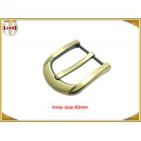 40mm Customized Fashion Gold Zinc Alloy Pin Belt Buckle Manufacturers Manufactures