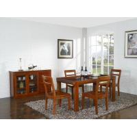 Quality Nanmu solid wood Dining room furniture 1.35m flexible Round table and Chairs Tall wine cabinet with buffet for sale