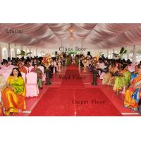 Quality UV Protection Transparent Wedding Marquee Tent Rot Proof With Wood Flooring for sale
