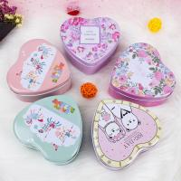 China Candy Packaging Metal Tin Box Heart Shape For Valentine And Birthday on sale