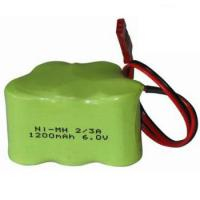 Rechargeable NiMH 2/3A 6V 1200mAh Battery Pack with Connector Manufactures