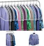Transparent Plastic Dust-proof Closet Garment Shoulder Cover Plastic Dust-Proof Suits Cover Hanger Manufactures