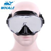 Free Diving Adults womens dive mask Flexible Silicone Tempered Glass Lens Manufactures