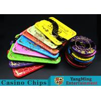 Crystal Acrylic Casino Poker Chips With Mesh Bronzing Silk Screen Manufactures