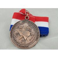 University Ribbon Medals , Die Casting , 3D And Antique Copper Plating For Gift Manufactures