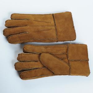 China men sheepskin Double face gloves on sale