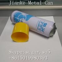 Aerosol cans necked in Diam.73mm height 220mm for oxygen breathing blue withe color