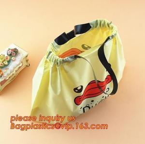 China Drawtape Plastic Car Biodegradable Garbage Bag,Plastic laundry drawtape handle bag for family,drawstring closure drawtap on sale