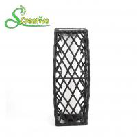 Garden Patio Rattan Solar Post Lights , Wicker Outdoor Solar Lights LED Powered Manufactures