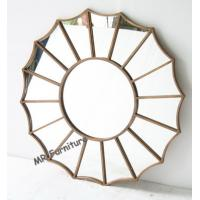 Gold Metal And Mirror Wall Decor , Gold Metal Frame Abstract Mirror Wall Art Manufactures