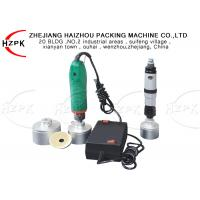 Electric / Pneumatic Semi Automatic Capping Machine , Manual Capping Machine Manufactures