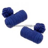 China silk knot cuff link on sale