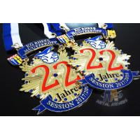 Buy cheap Runing Race Sports Enamel Medals Cut Out Effect Sublimated Ribbon Both Size from wholesalers