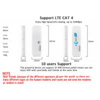 Unlocked Huawei E8372 E8372h 150Mbps 4G Black or White  Wifi USB Modem LTE Wifi Dongle Support 10 Wifi Users  4G Dongle Manufactures