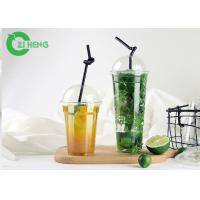 Strong Stiffness Large Plastic Cups With Lids Recyclable For Cold Beverage Manufactures