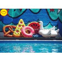 China PVC Inflatable Adult Swimming Ring PVC Swim Rings For Donut Float Summer Water Sport Inflatable Donut Pool Floats wholesale