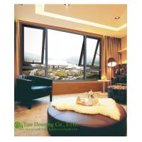 6mm Tempered Glass Residential aluminum alloy picture and awning windows, gray profile color Manufactures