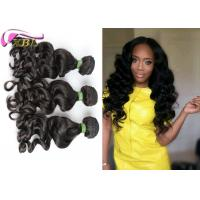 8A Mongolian Remy Clip In Human Hair Extensions Loose Body Wave Can Be Dyed Well One Donor Hair Manufactures