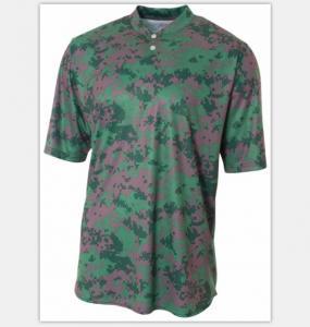 China 100% Cotton Sublimation Printing T Shirts Camo Baseball Tee Turtleneck on sale