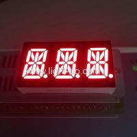 Triple Digit LED 14 Segment Display 0.54 Inch Super Red For Temperature Control Manufactures
