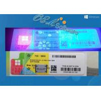 Oem And Retail Key Windows 10 Pro Coa Sticker With Scratch Anti Fake Coating Manufactures