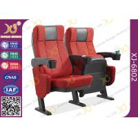 China ISO Certification Padding Armrest Theatre Seating Chairs Flame Retardant Fabric on sale