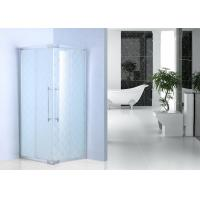 Frost Glass Bathroom Shower Enclosures Square Shower Cabins With Chrome Profile Manufactures