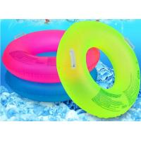 Fluorescent Inflatable Swim Ring Comfortable 39 Inch Size With Safety Handle Manufactures
