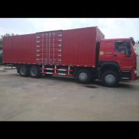 Buy cheap Sinotruk HOWO 336HP 371HP 8x4 12 tires stake side wall box cargo truck for sale from wholesalers