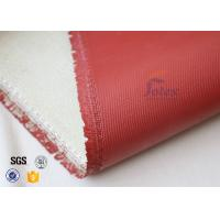 1200℃ Red Silicone Coated High Silica Fabric For Thermal Insulation Materials Manufactures