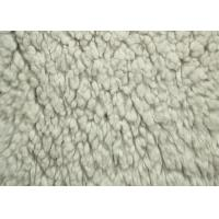 100% Polyester Berber Fleece Fabric White Color Back Print With SGS Certification Manufactures