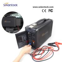 500W 110V - 240V Black Portable Backup Power Pack with Polymer Lithium Battery Manufactures