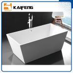 Pure Acrylic Square Soaking Tub , Extra Deep Soaking Tub For Small Bathrooms Manufactures